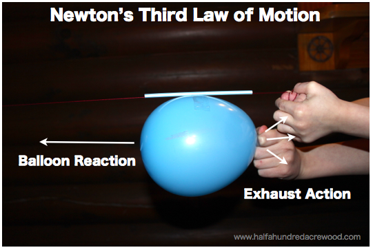 Newton S Third Law Of Motion Activity Kids