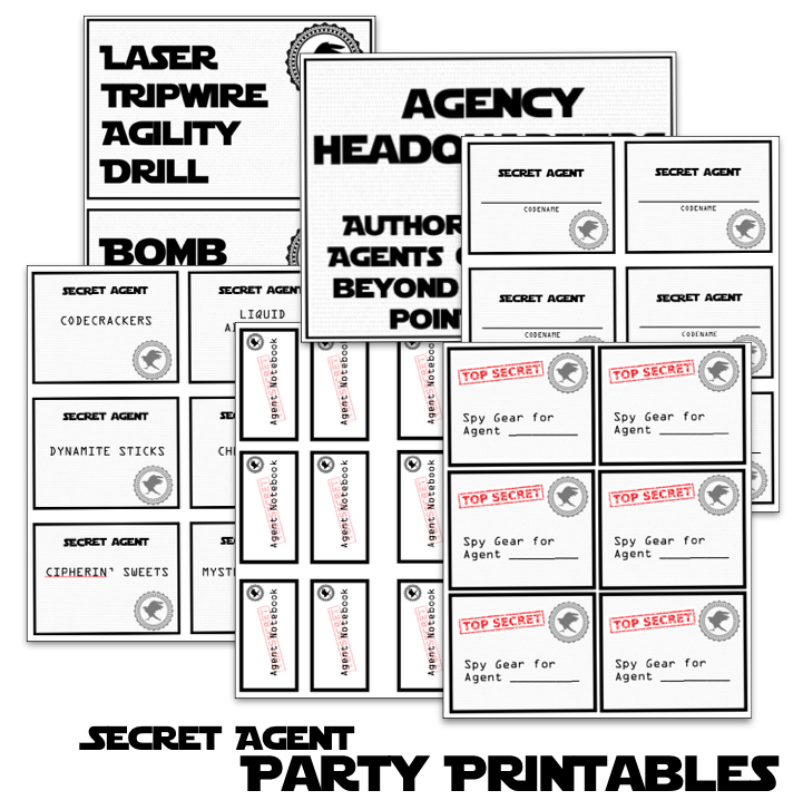 Spy Party Games, Printables, and Memories - Half a Hundred Acre Wood