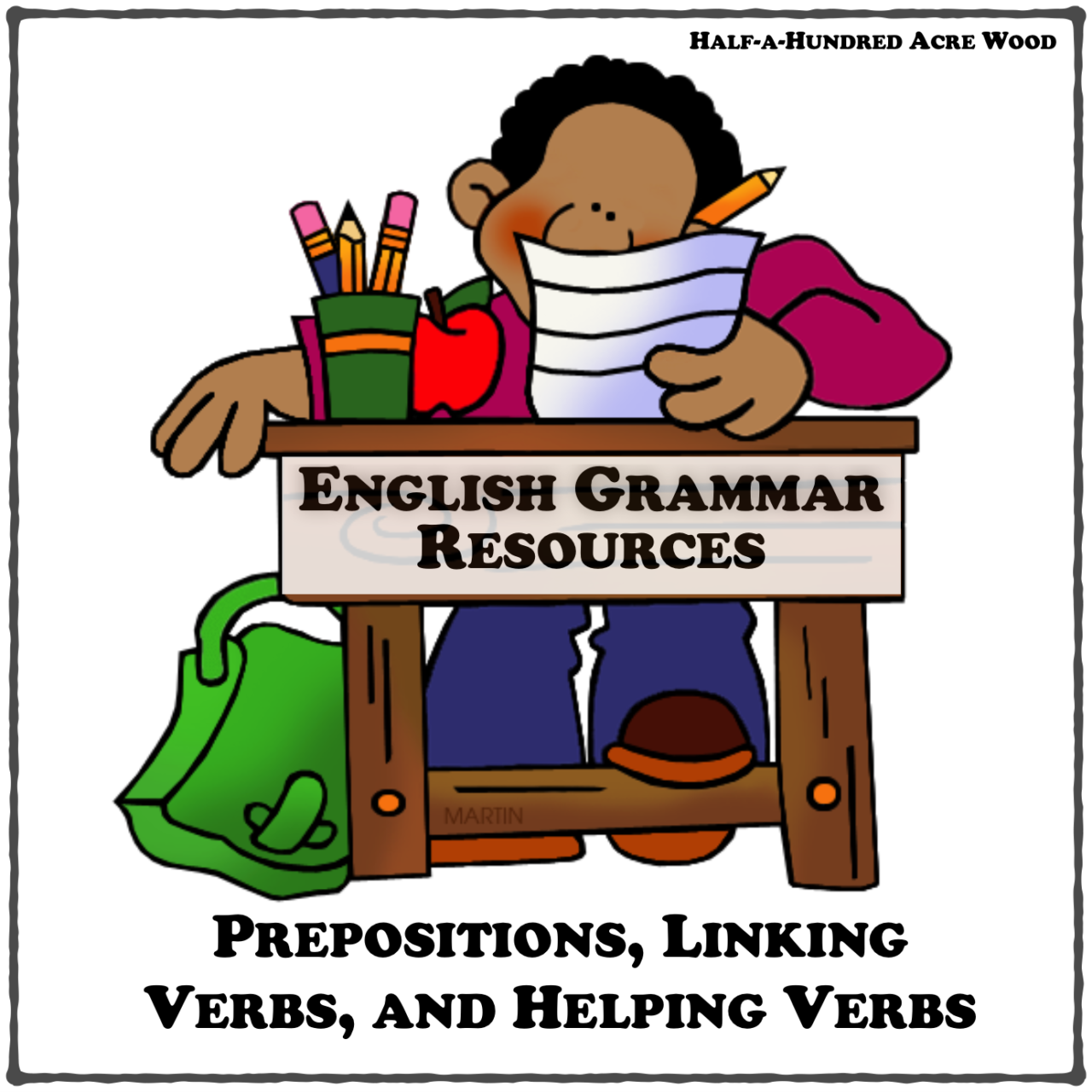 English Grammar Resources Prepositions Linking Helping Verbs Diagramming