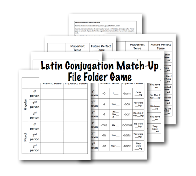 Latin Conjugation MatchUp Game Half a Hundred Acre Wood