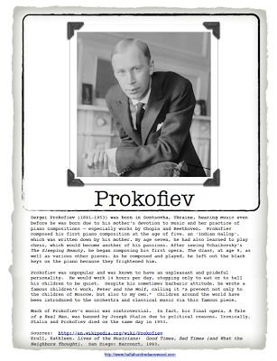 Introducing Composer Study Prokofiev Peter And The Wolf Half A