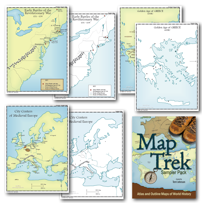 Map trek set by knowledge quest half a hundred acre wood the map trek map set is the best and most complete set of historical maps ive ever come across to better understand history and its place in our gumiabroncs Choice Image