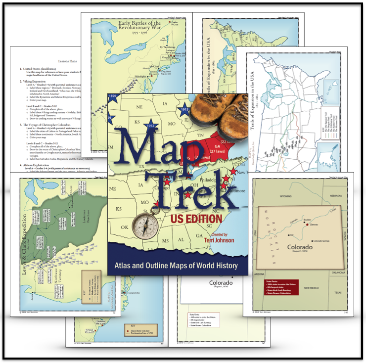Map trek us edition knowledge quest american history geography resources half a gumiabroncs Choice Image