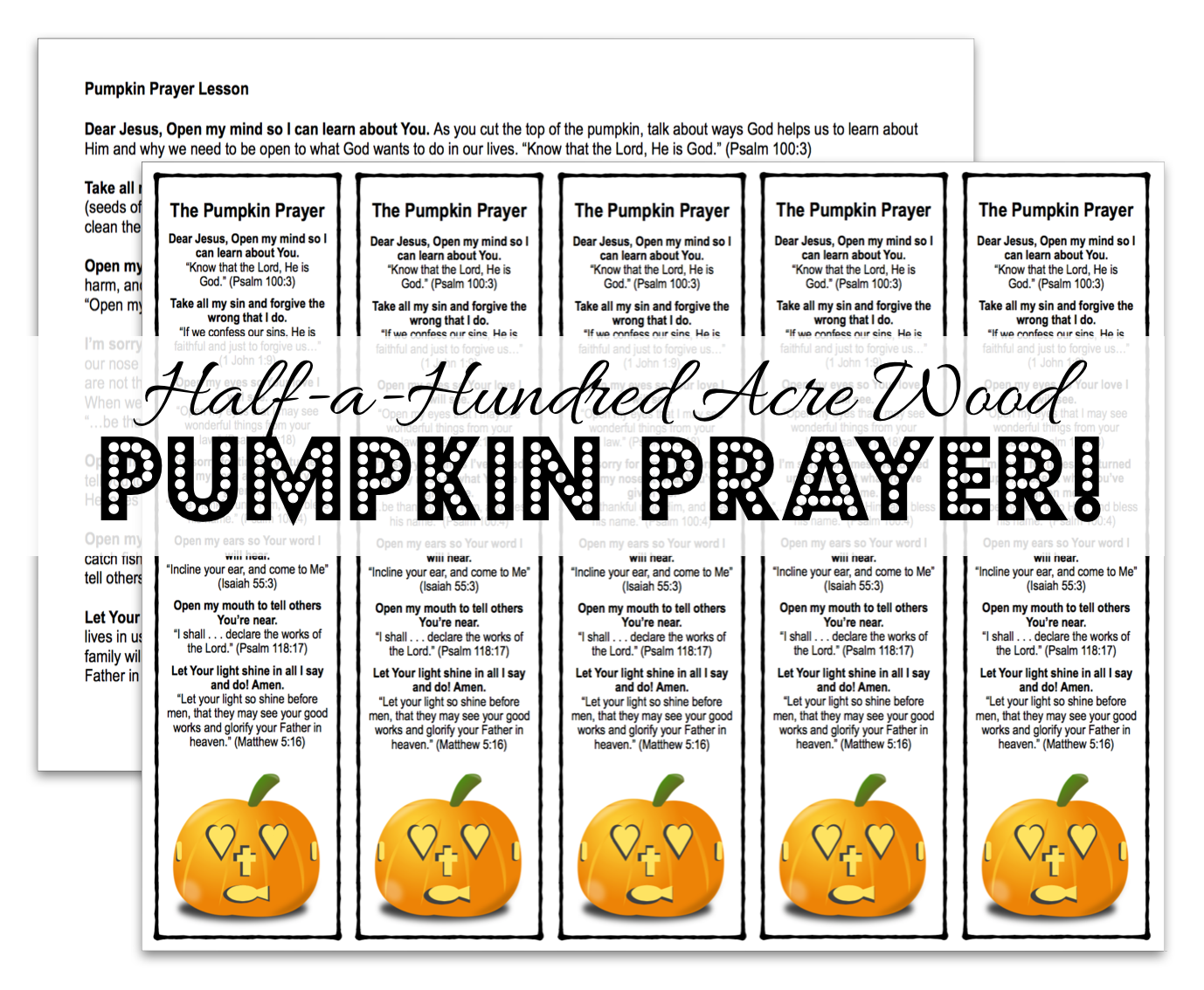 photo relating to Pumpkin Gospel Printable identify The Pumpkin Prayer Bookmarks and Lesson Printable : 50 % a