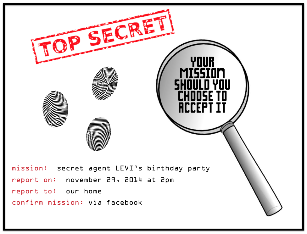 photo relating to Spy Party Invitations Printable Free identified as Spy Bash Online games, Printables, and Recollections : Fifty percent a Hundred