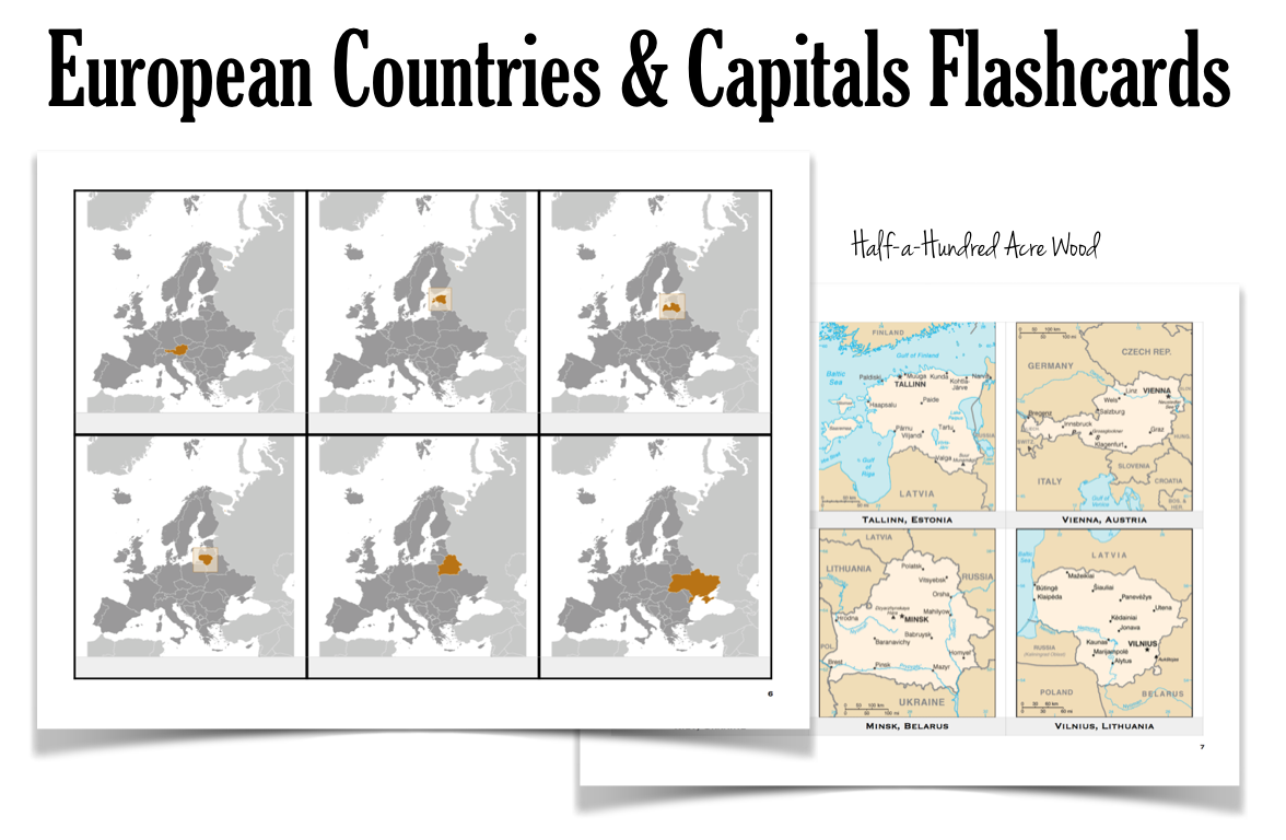 photo about States and Capitals Flash Cards Printable named Ecu Nations Capitals Flashcards : 50 percent a Hundred