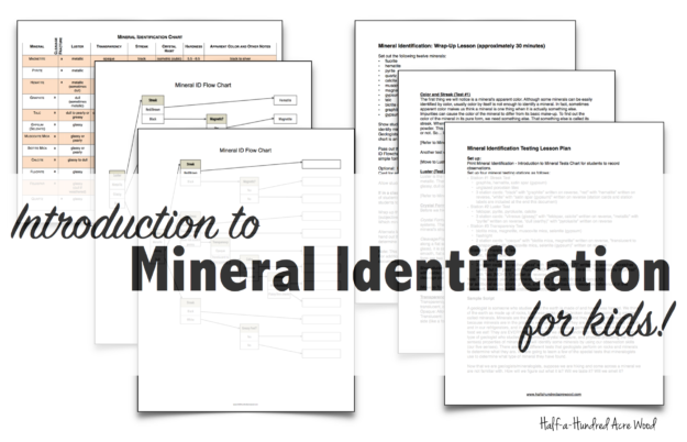 Mineral Identification Stations Flowchart Half A Hundred Acre Wood