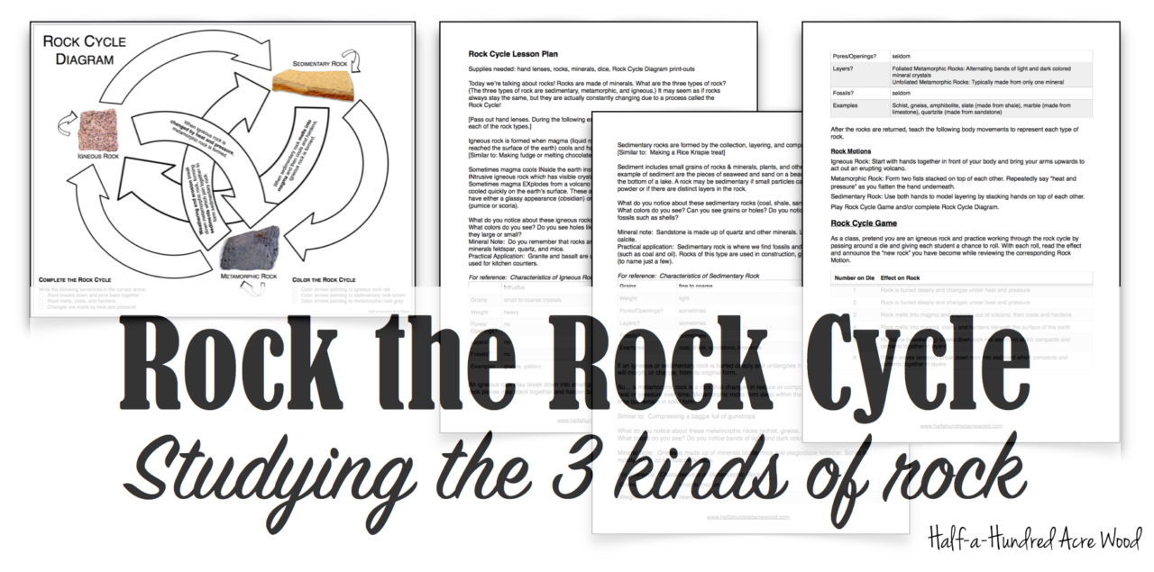 Rock the rock cycle free lesson printables half a hundred acre rock the rock cycle free lesson printables half a hundred acre wood ccuart Image collections