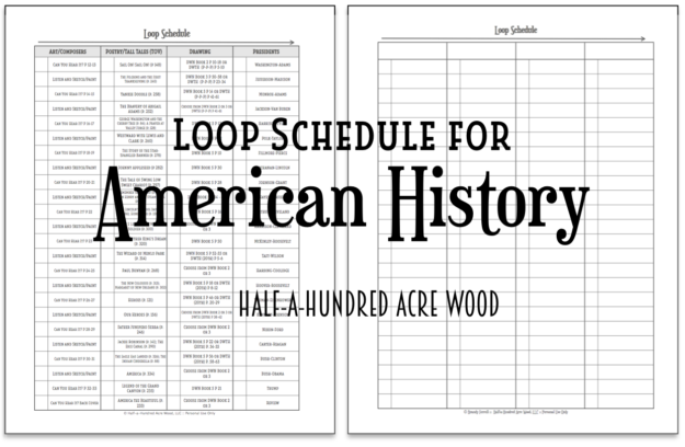 graphic relating to Loop Schedule Printable known as American Background Loop Plan : Fifty percent a Hundred Acre Wooden