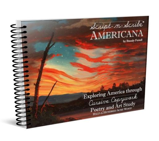 Americana: American Art and Poetry Study through Cursive
