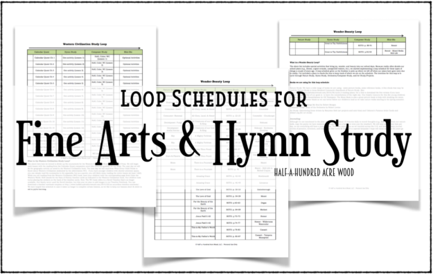 image about Loop Schedule Printable named Wonderful Arts, Hymn Review, and Cycle 1 Loop Schedules : 50 % a