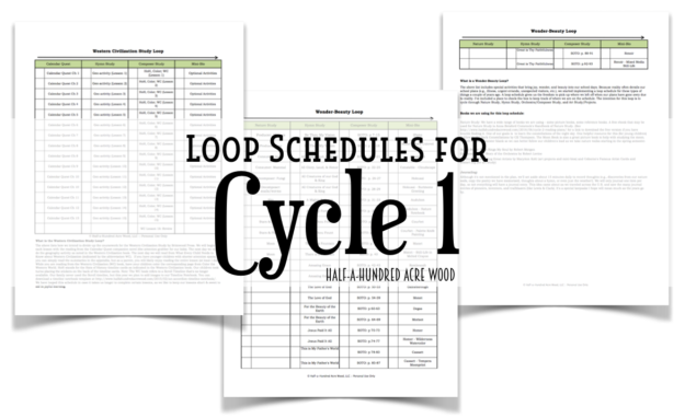 photograph about Loop Schedule Printable named Good Arts, Hymn Research, and Cycle 1 Loop Schedules : Fifty percent a